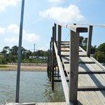 The jetty on Pleasant Bay, belonging to the Inn