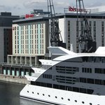 Hotel from Royal Victoria Docks Footbridge
