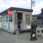 lovely litte shack on prom to right side of hotel great bacon butty