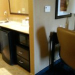ref and microwave area with bar sink