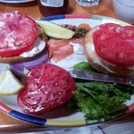 Lox & bagel, with local fresh toma