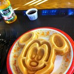 Mmm... Waffles taste better when they are Mickey shaped;)