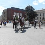 Carriage rides in the square