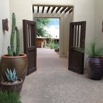 Entry to one of Miraval's room courtyards