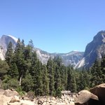 View of Half Dome from Lower Yosemite Falls