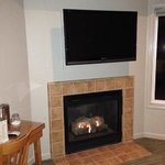 Gas fireplace in Point Sur room