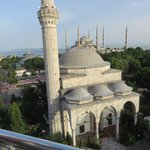 Blue Mosque view from roof deck