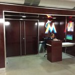 Marlins locker room & dugout entrance