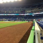 view from Bacardi Dugout Club seats