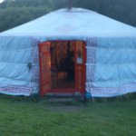 Our yurt, which had quite solid walls