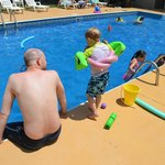 at the pool at Golden Pond Resort