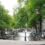 View of Reguliersgracht outside the Vanguard
