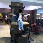 Giant chair in reception/lobby