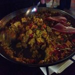 Meat paella.
