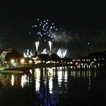 View of fireworks from Epcot
