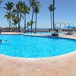 Panorama of 2 of the pools