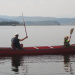 Free use of the lodge's canoe