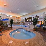 Indoor Saltwater Hot Tub and Swimming Pool