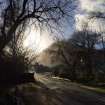 Early morning view of the road leading to La Bourgogne