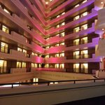 Inside the Sheraton Springfield at Night