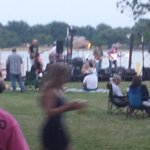 band on friday night on the river front on the property of the hotel