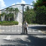front gate to Dreams Palm Beach
