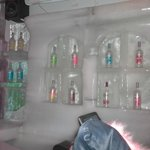 ice bar with shelves