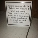 dirty dishes sign