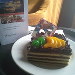 my birthday cake, gift from hotel management