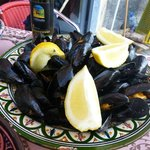 Excellent mussels from the menu of the Antico Caffe del Moro