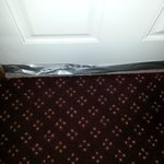 Duct tape on our door