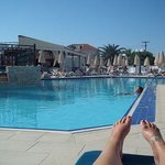 View of pool from sunbed!
