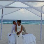 our beautiful wedding set up on the beach