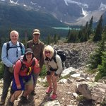 Joel, Bill, Sophie & I on our hike to Lake Helen