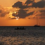 sunset in caye caulker