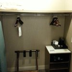 Closet, safe, luggage rack, coffee maker, etc. (Room 1012)
