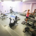 The gym. Enough equipment to make your all your muscles sore if you know how to work out in a gy