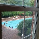 View of the pool from the room