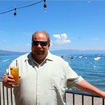 """Enjoing the view and a """"Mai Tahoe""""  - had 2!"""