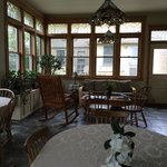 The sunny, inviting dining room.