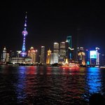 View of Pudong at night taken July 2014