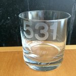 Room Number etched on glasses