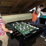 Play the super funy board soccer with friends..