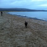 Oxwich Bay - the beach early morning