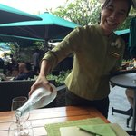 Great service from this young lady at the Verandah