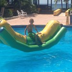 Son in kids pool. Very nice