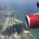 Flying into Chicago