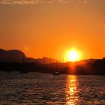 Sunset over Poros Town