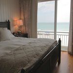 Ocean front master bedroom in condo 7C on the third floor