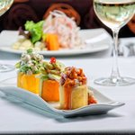 """Causa"" trio from the three Peruvian regions Restaurant Terrace Aguaymanto"